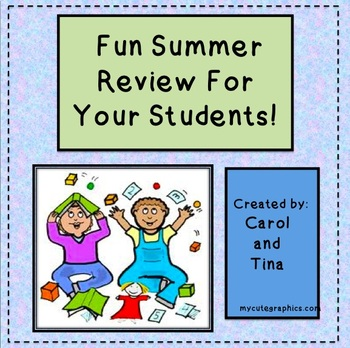 Fun Summer Review For Your Students!