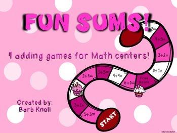 Fun Sums!  Adding Games!
