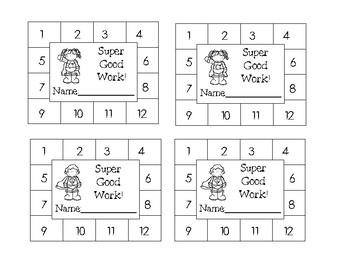 Fun Superhero Punch Cards