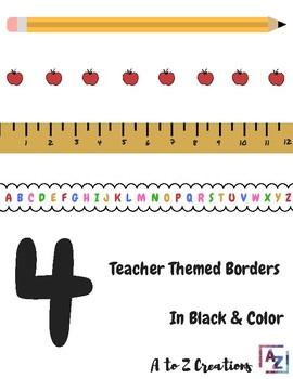 Fun Teacher Themed Borders