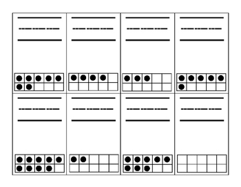 Fun Ten Frames Count & Write Math Center