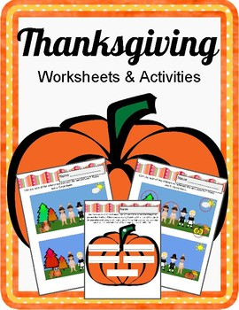 Fun Thanksgiving Worksheets. No Prep.