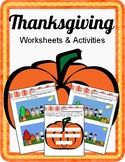 Fun Thanksgiving Worksheets. No Prep.