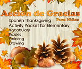 Thanksgiving Fun Pack in Spanish - Elementary