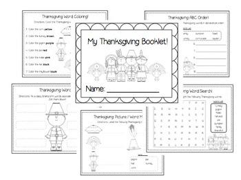 Fun Thanksgiving Booklet & Craftivities!