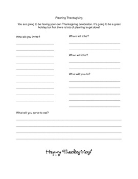 Fun Thanksgiving Handouts