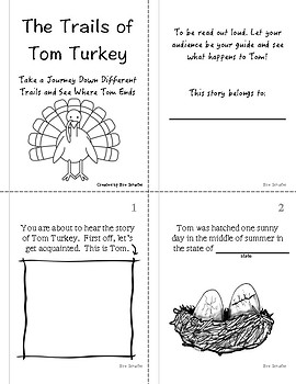 Fun Thanksgiving Story Activity- Trails of Tom Turkey