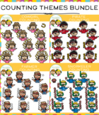 Fun Theme Counting Clip Art Bundle
