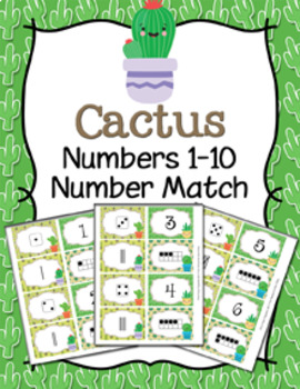 Fun Themes Numbers 1-10 Match Activity Bundle