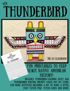 Fun Thunderbird Printables! Hands-On Native American Activity & Writing Prompts