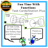 Fun Time With Functions: Task Cards/Sorting Activity Plus More!
