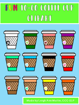 Fun To-Go Coffee Cup Clipart