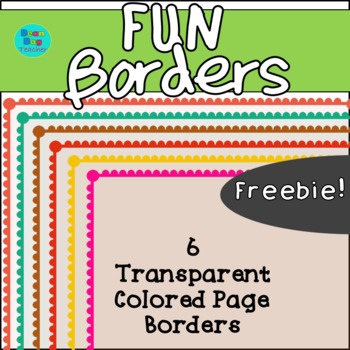 Fun Transparent Colored Page Borders