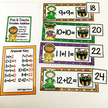 Giggly Games Fun & Treats Doubles Addition Envelope Center