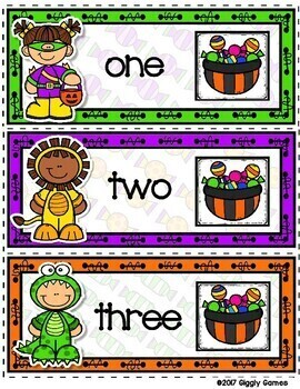 Giggly Games Fun & Treats Numbers to 12 Envelope Center