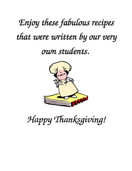 Fun Turkey Cookbook - Students Write Recipes - Great for Thanksgiving!