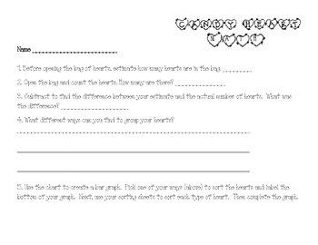 Fun Valentine's Math with Conversation Hearts!
