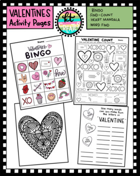 Fun Valentines day Activity Bundle -NO PREP