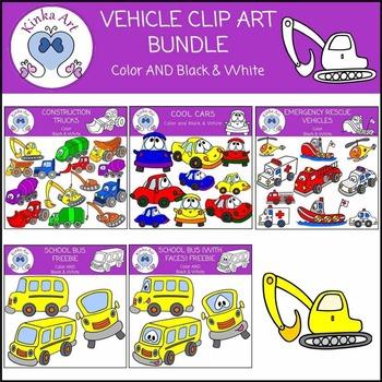 Fun Vehicle Clip Art Bundle