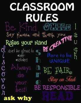 Fun Vibrant Classroom Poster