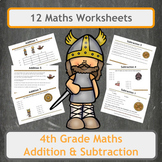 Fun Viking Themed Addition and Subtraction Worksheets for
