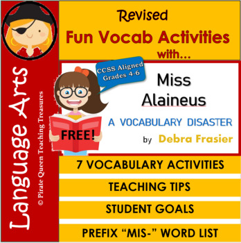 Fun Vocab Activities for Miss Alaineous: A Vocabulary Disaster/CCSS 4th-6th