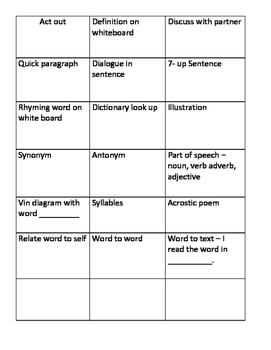 Fun Vocabulary Activities