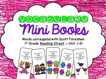 Fun Vocabulary Mini Books {Reading Street G.1 ALL UNITS!}