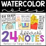 Fun Watercolor Desk Notes - TARGET ADHESIVE LABELS - Desk Notes
