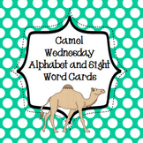 Fun Wednesday Camel Alphabet and Sight Word Cards