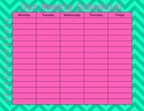 Fun Weekly Schedule Templates!