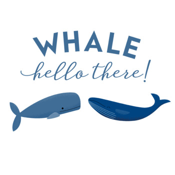 Fun Whale Clip Art - Whale Hello There