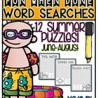 Fun-When-Done Word Searches {Summer Puzzles}
