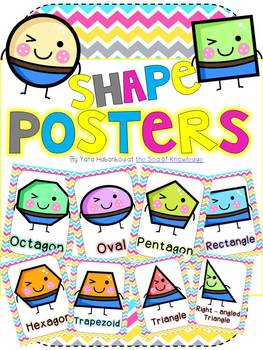 Fun Shape Posters! {Kindergarten, grade 1 and grade 2}