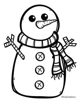 Fun Winter Freebie~ Snowman Glyph and Graph