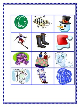 Fun Winter Literacy Station-Centers