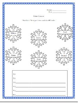 Fun Winter Literacy Station-Centers