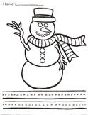 Fun Winter Snowman Writing Center
