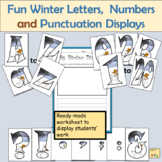 Fun Winter-Themed Alphabet Lettering Numbers Math Signs and Punctuation Symbols