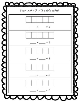 Addition Fun! Decomposing Numbers Mini-Pack