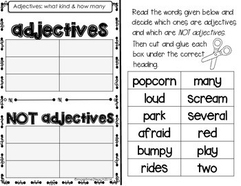 Fun With Adjectives {Task Cards, Anchor Chart, & More}