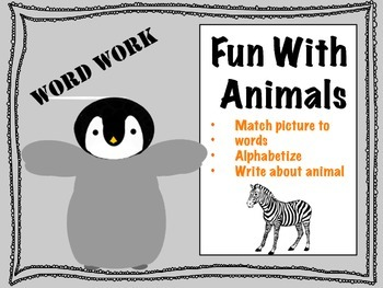 Fun With Animals Word Work