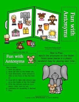 Fun With Antonyms [File Folder Fun]