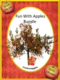 Apple Math & Literacy Activities BUNDLE, Matching Cut and Paste Worksheets