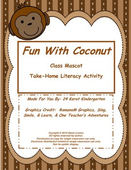 Fun With Coconut! Take-Home Literacy Activity