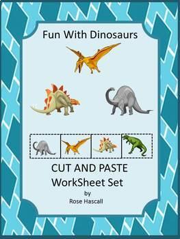 Dinosaurs, Cut and Paste Activities, Summer Special Education, Kindergarten