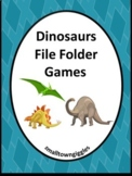 Dinosaurs Math and Literacy File folder Games for Special Education Kindergarten