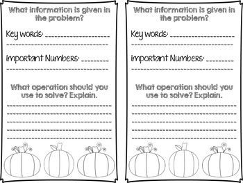 Fun With Fall Differentiated Division Word Problems
