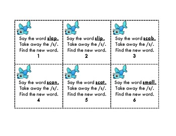 Fun With Fish Phonemic Awareness Deletion Activity With S Blends