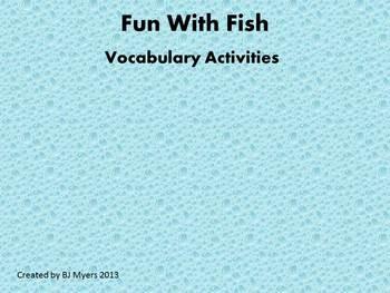 Fun With Fish Vocabulary Unit